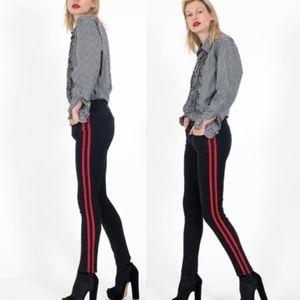 Siwy Marion Black Mirror Red Stripe Skinny Jeans